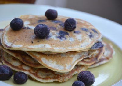 Crispy Blueberry Pancakes