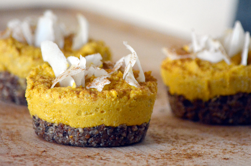 Mini Raw Pumpkin Pies