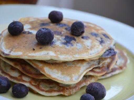 Crispy Blueberry Pancakes